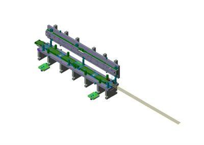 Dimensioni: 2580 x 480 H=600<br /> Tipo stampo: a passo tranciatura testacoda versionabile (n° passi: 2)<br /> Tipo lamiera: DC04 ZN - Spessore 8/10<br />