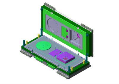 Dimensioni: 2250 x 1090 H=490<br /> Tipo stampo: Imbutitura a blocco<br /> Tipo lamiera: AISI 304 - Spessore 10/10<br />