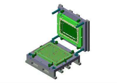 Dimensioni: 1010 x 880 H=500<br /> Tipo stampo: Piega a blocco<br /> Tipo lamiera: AISI 304 - Spessore 10/10<br />