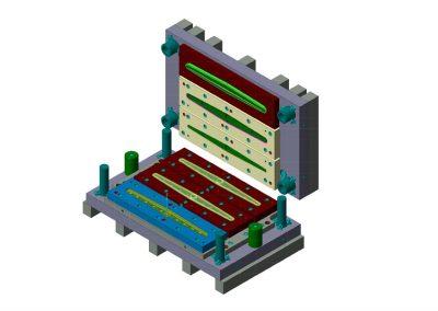 Dimensioni: 855 x 490 H=330<br /> Tipo stampo: A blocco 3 operazioni<br />